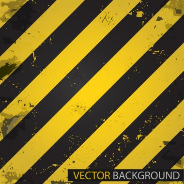 Hazard stripes. Vector background