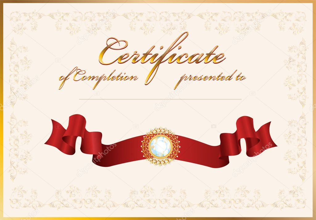 certification of completion sample