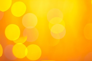 Abstract sunny bokeh on orange