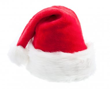 Santa Claus red hat on white background