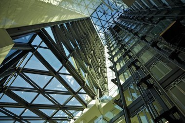 Modern architectural structure in business style