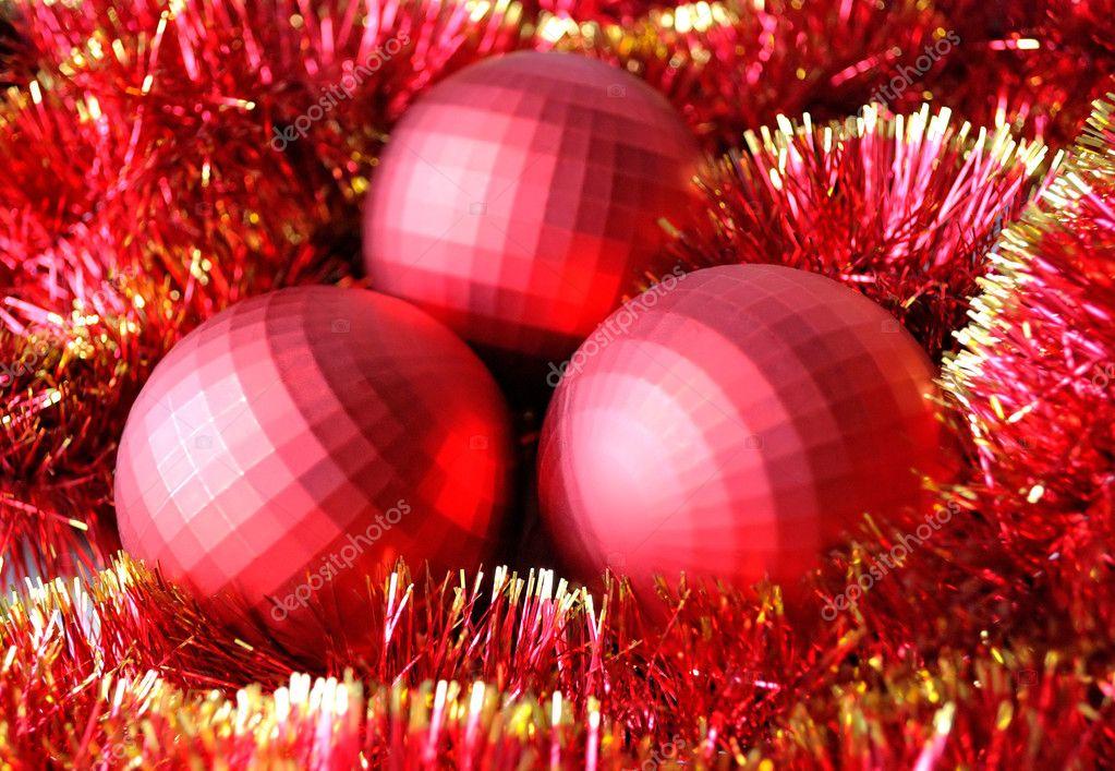 Kerstdecoraties Met Rood : Kerstdecoratie in het rood u2014 stockfoto © estea estea #4433865