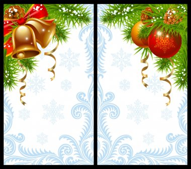 Christmas and New Year greeting card 15 stock vector