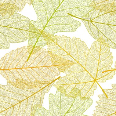 Seamless autumn leaves pattern 01
