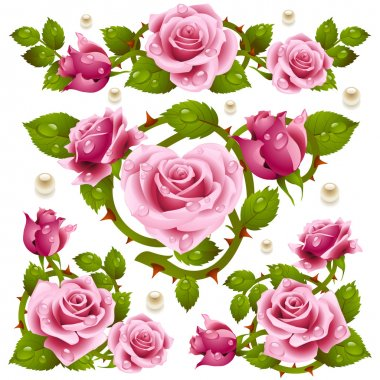 Rose design elements