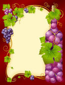 Fotografie Vector grape frame with crown