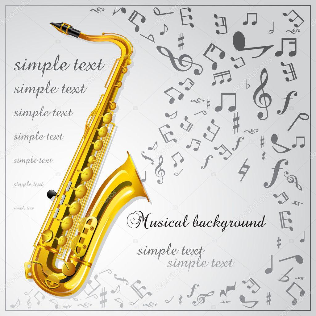 Saxophone. Musical background