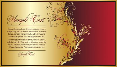 Elegance red-gold background