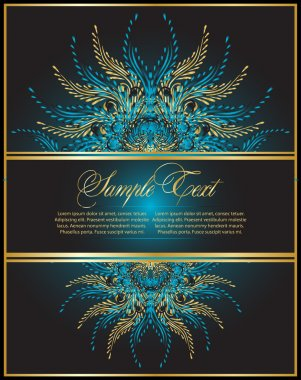 Abstract vintage background clip art vector
