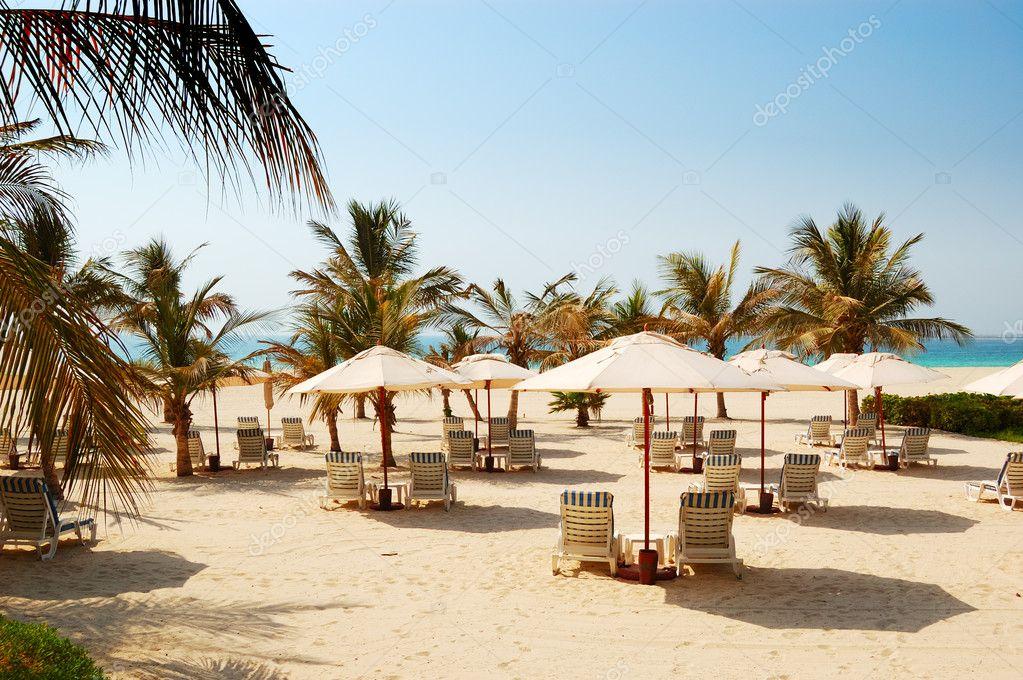 Beach of the luxury hotel, Dubai, UAE