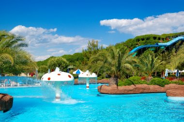 Waterpark at the luxury hotel, Antalya, Turkey