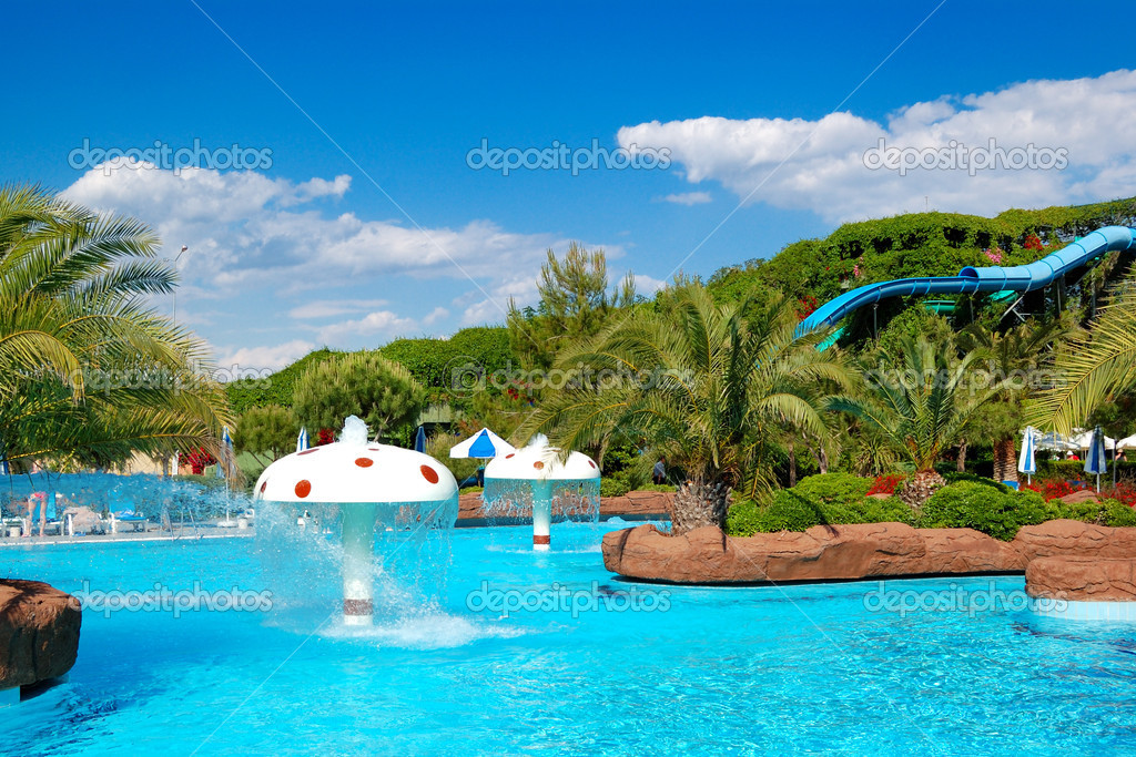 Waterpark at the luxury hotel, Antalya, Turkey