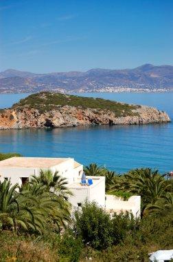 Luxury villa at modern resort, Crete, Greece stock vector