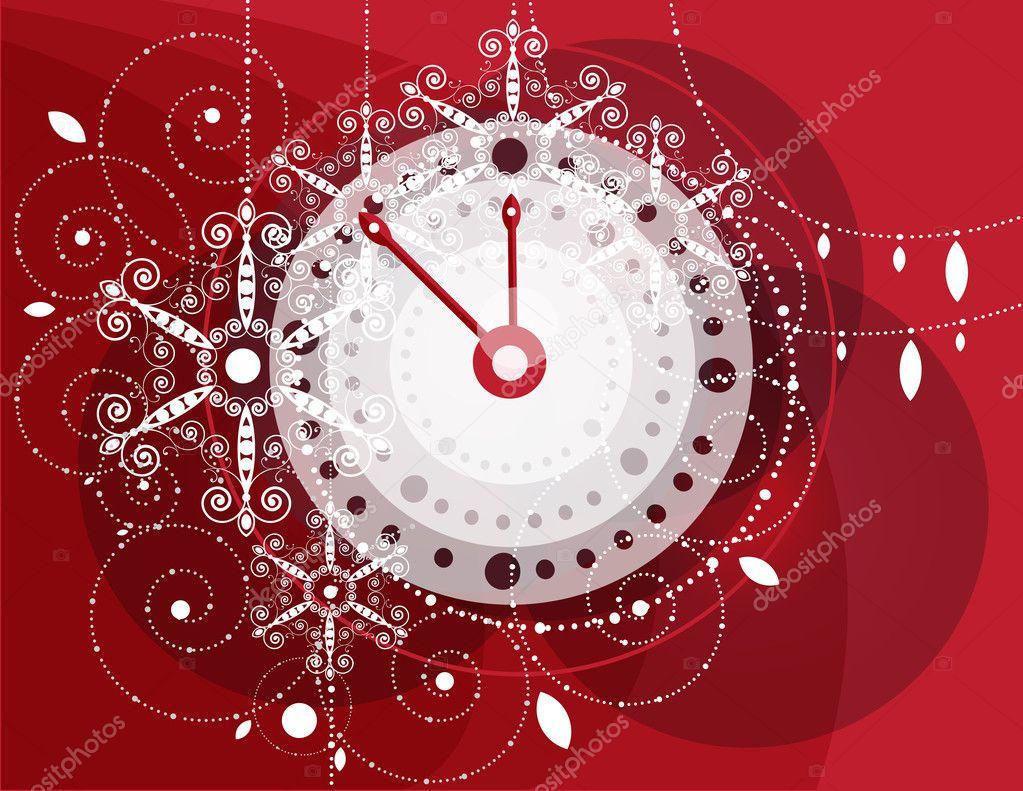 Christbaumschmuck Uhr Stockvektor C Lyudmilaka 4479178