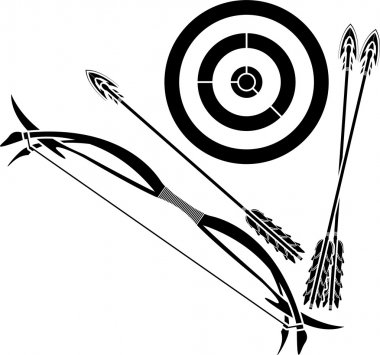 Bow and target