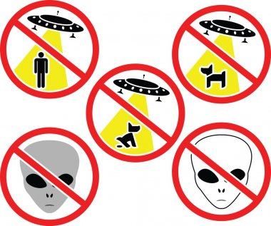Warning signs for aliens