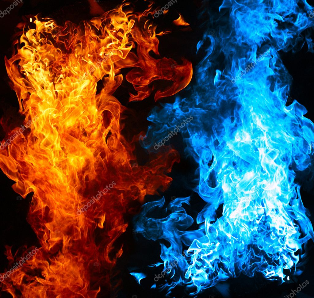 Red and blue fire — Stock Photo © Valeev #4150076