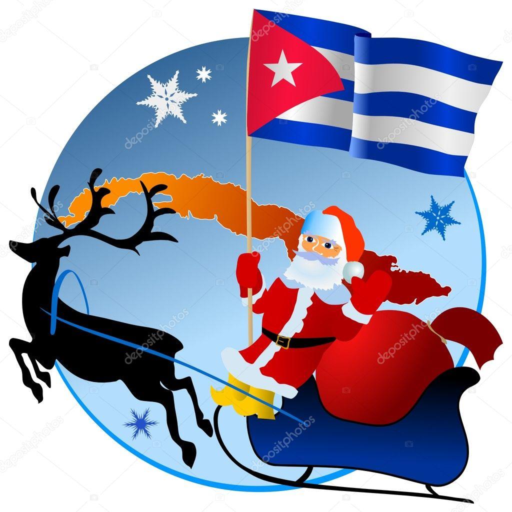 FELIZ NAVIDAD Y ANO NUEVO ! Depositphotos_4170473-stock-illustration-merry-christmas-cuba