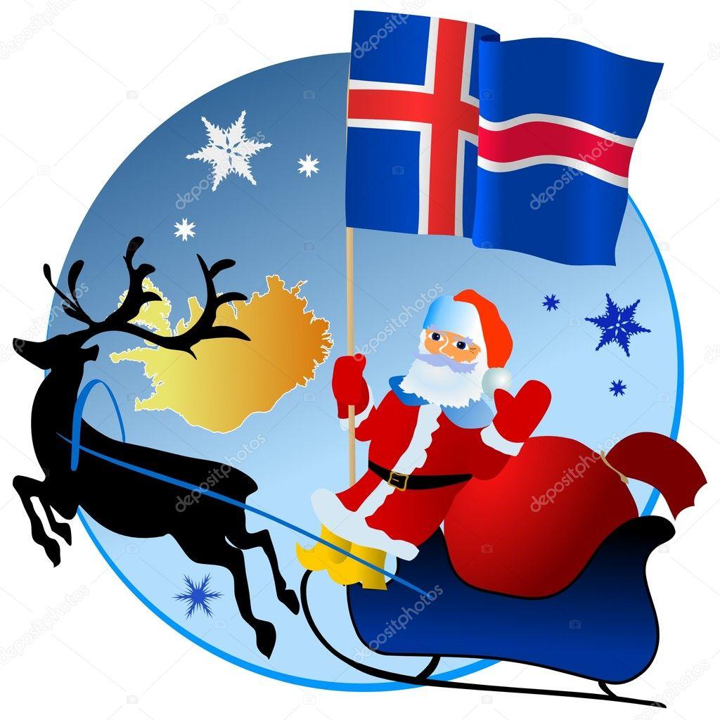 Weihnachtsessen Island.Frohe Weihnachten Island Stockvektor Perysty 4179800