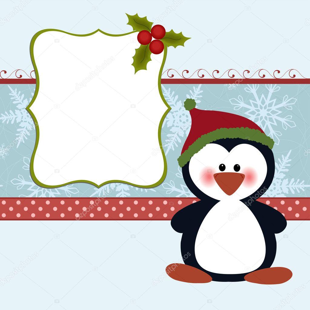 leere Vorlage für Weihnachten Weihnachtskarte — Stockvektor ...