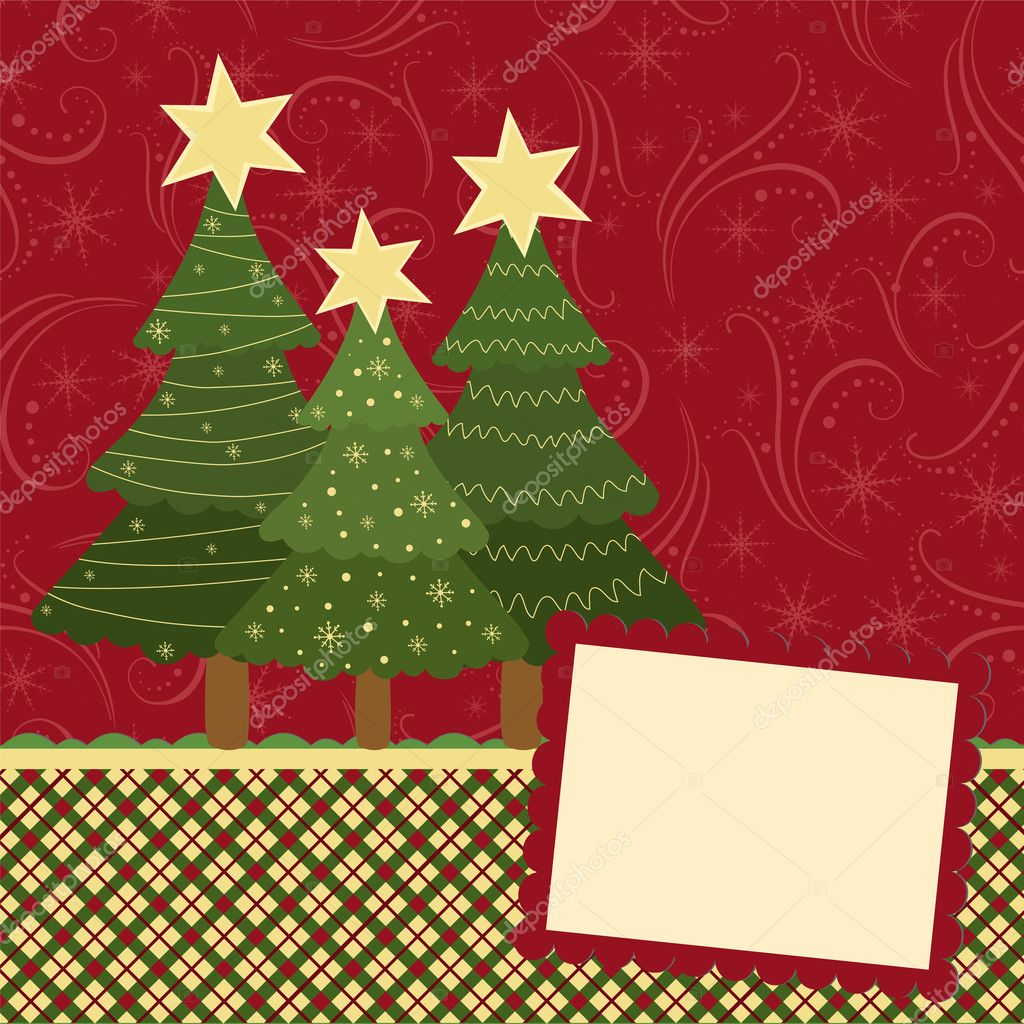 Blank template for christmas greetings card stock vector blank template for christmas greetings card stock vector kristyandbryce Image collections