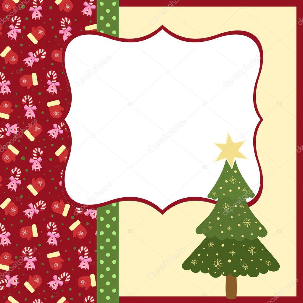 plantilla en blanco para tarjeta de saludos de Navidad — Vector de ...