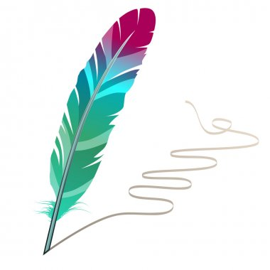 Many-coloured feather