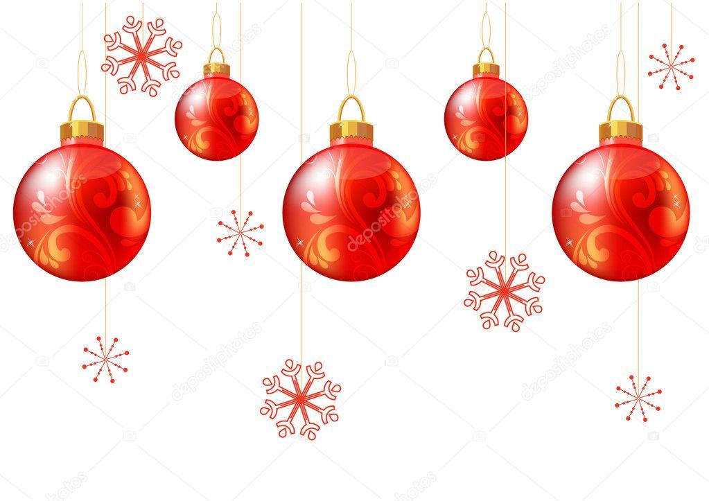 Fondo transparente de navidad con bolas rojas archivo - Bolas de navidad rojas ...
