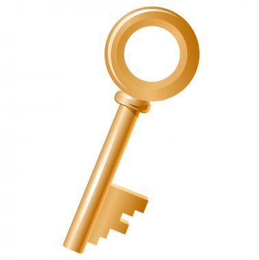 Golden key isolated