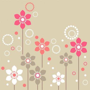 "Картина, постер, плакат, фотообои ""стилизованные цветы"", артикул 4803196"