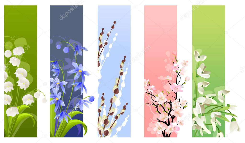 Collection of spring flowers