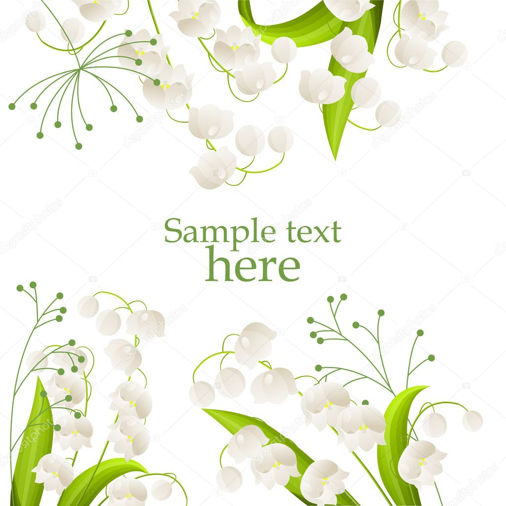 rama z konwalie grafika wektorowa  u00a9 nurrka 5171512 calla lily clipart drawing in pencil calla lily clip art frame