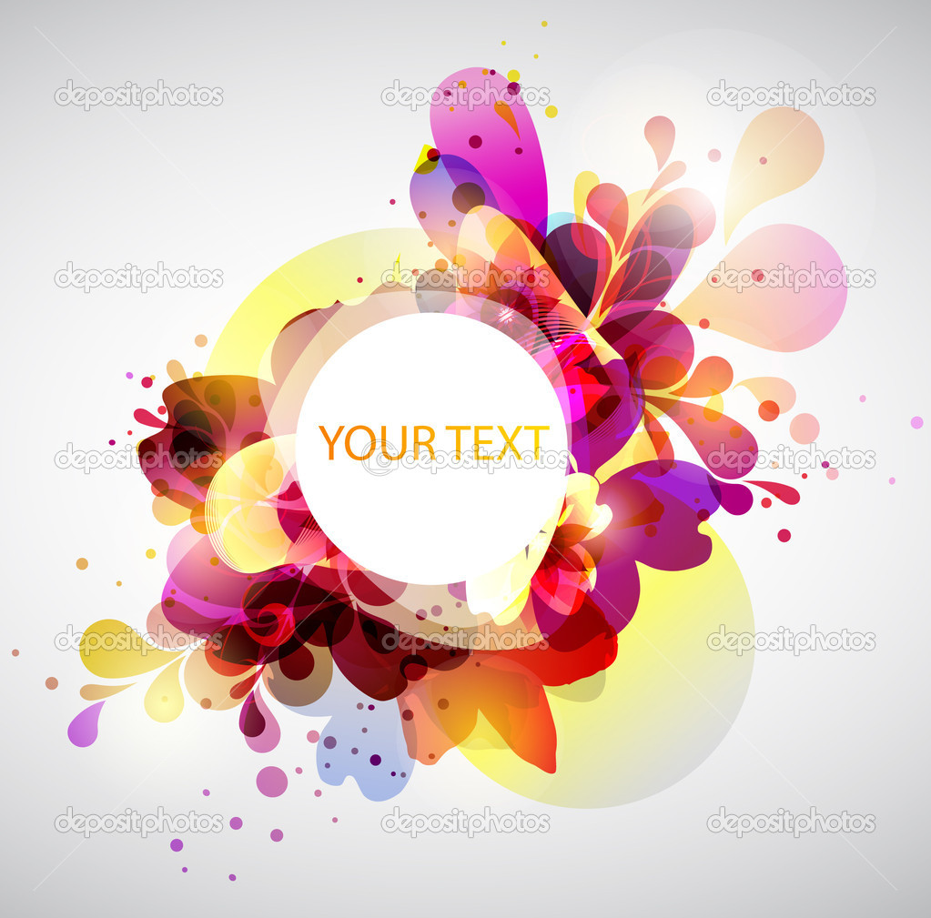 Abstract design forms for poster stock vector