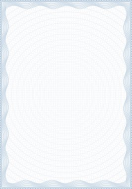 Guilloche style blank form for diploma
