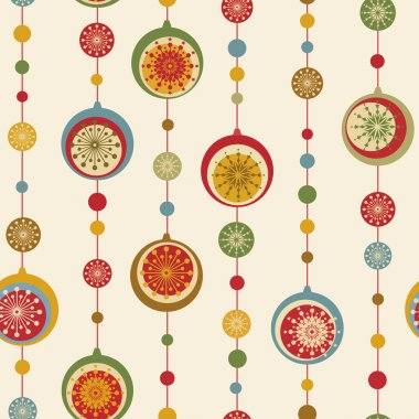 Christmas and New Year seamless background