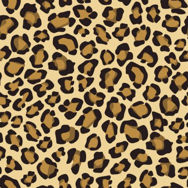 Seamless background with leopard skin pattern