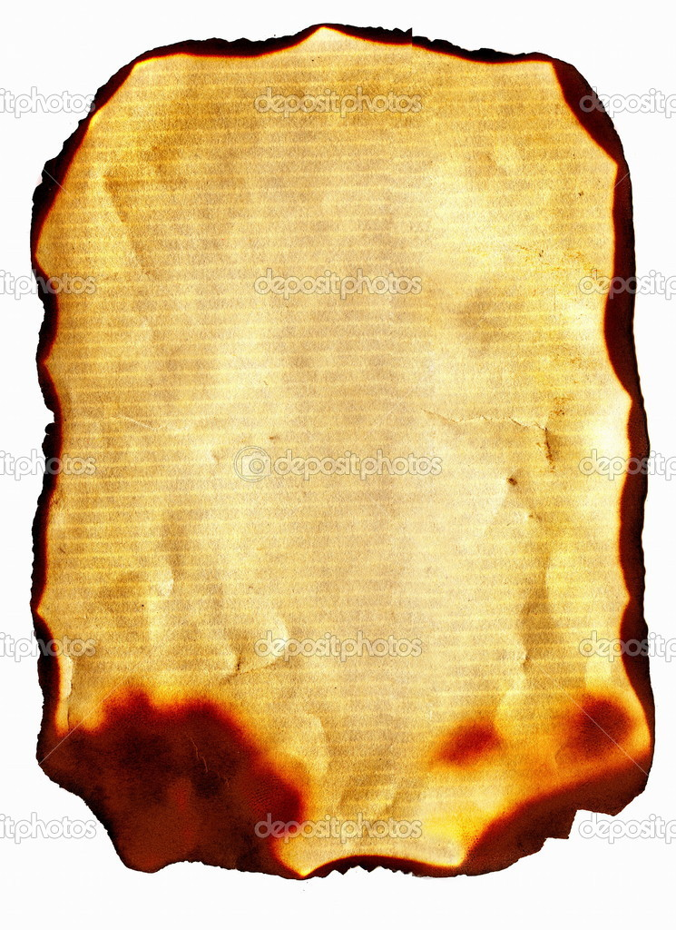 Old burnt paper — Stock Photo © sabphoto #5110406