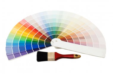 Color guide for selection isolated on white background stock vector