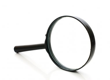Magnifying glass isolated on white background