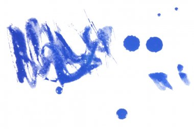 Blue abstract watercolor brush splash background