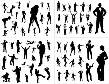 Set of silhouettes