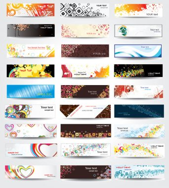 Set elegance and universal banners. Vector.