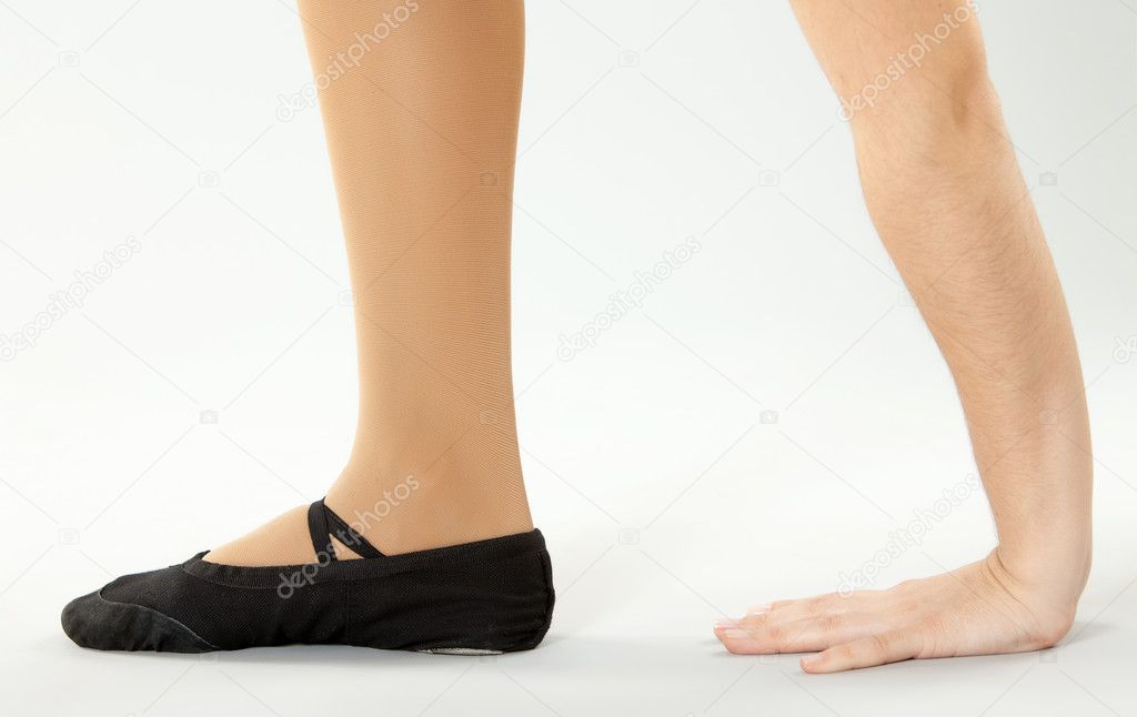 Ballerina Füße — Stockfoto © tropper #5364090