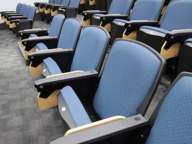 Rows of chairs in lecture hall