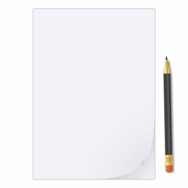 Illustration of a curled peel notepad with crayon