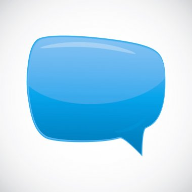 Abstract glossy speech bubble