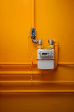 Pipes and gas meter
