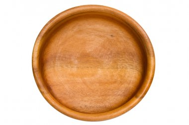 Empty Wooden Bowl isolated