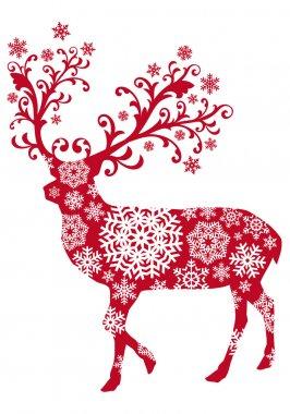 Christmas deer, vector