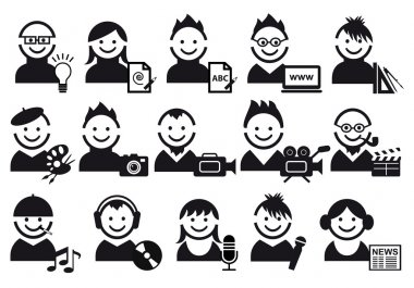 Creative , vector icons